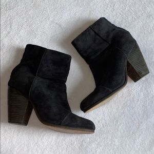 Rag & Bone black suede booties size 8!